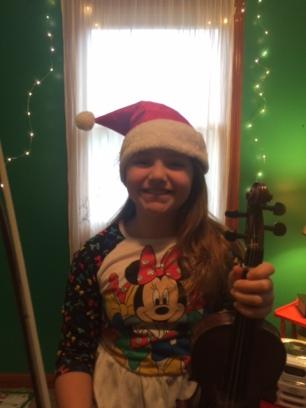 Ashlyn in the Christmas spirit!